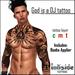 Inkside Tattoos - God is a DJ Tattoo with lolas applier