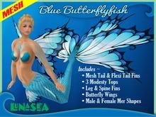 =LunaSea= Mermaid & Merman Outfit - Blue Butterflyfish