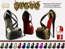 [ YKZ ] Robyn Heels ( for Slink High Feet ) - DEMO - with Texture change HUD