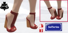 Plateform Wedges Red with cork sole - 2 versions - SLINK High feet required