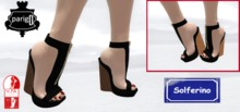 Plateform Wedges Black with cork sole - 2 versions - SLINK High feet required