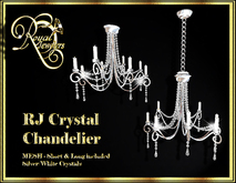 Elegant Mesh Crystal Chandelier (set of 2)- Silver with White Crystals