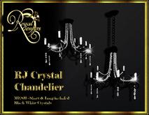 Elegant Mesh Crystal Chandelier (set of 2)- Black with White Crystals