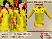~Kawaii Tofu~Pikachu Hooded Dress