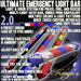Ultimate Emergency Light Bar v2.0 for Police, Fire, Rescue Vehicles - Mesh