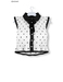 % S A L E % GAWK! White/Black Dotted Vintage Blouse   for Standard Avatar