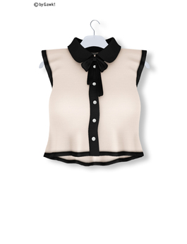 % S A L E % GAWK! Ivory Vintage Blouse   for Standard Avatar