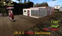 [B.A.I] 1950s Gas station