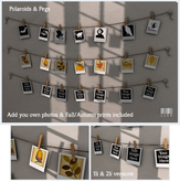 LISP - Mesh - Polaroids on String with Pegs - Add Your Own Photos