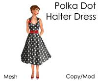 Delia's Black Polka Dot Halter Dress