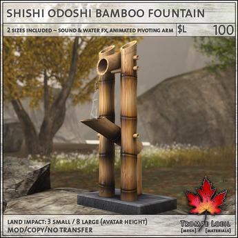 Trompe Loeil - Shishi Odoshi Bamboo Fountain [mesh]