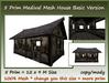 5 prim mesh house basic version 12x9 m size copy-mody