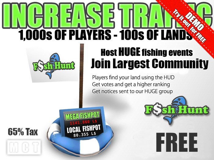Fish Hunt Buoy FREE - Increase Land Traffic (65% tax)