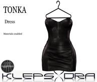 Klepsydra - Tonka Leather Dress - Black