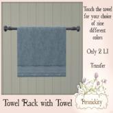 Towel Rack w/Towel