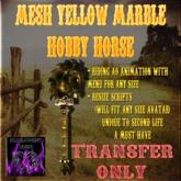 BBD - (BOX) - Mesh Yellow Marble Hobby Horse (Trans Version)