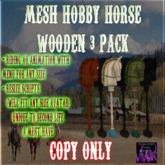 BBD - (BOX) - Mesh Wooden Hobby Horse Set (Copy Version)