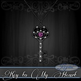 :::Krystal::: Key to My Heart - Necklace - Wrought (Winestone)