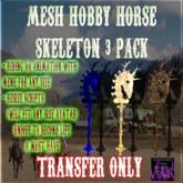 BBD - (BOX) - Mesh Skeleton Hobby Horse Set (Trans Version)