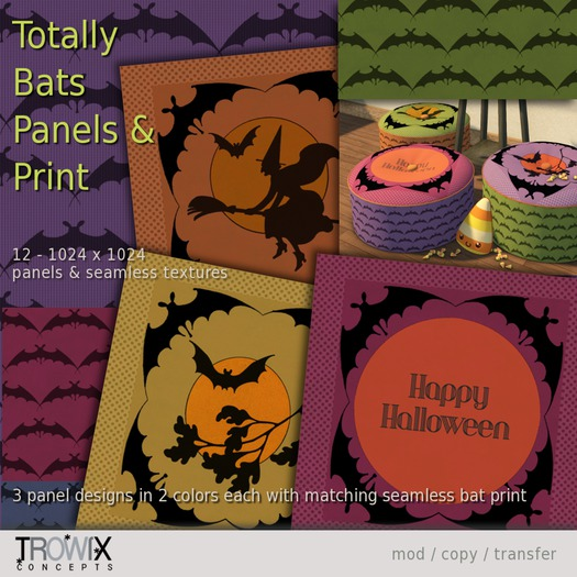 Trowix - Totally Bats Panels & Print Textures