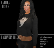 BD-Boo Knit Sweater Mesh black belly top