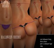 BD-Bat Thongs 3 colours halloween 2014 promo dollarbie
