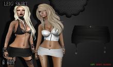 B BOS -Leig Skirt-Leather Black-