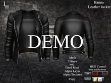 DE Designs - Hanna Leather Jacket - DEMO