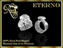 Eterno Ring - Platinum, Pear shaped diamond ring - Mesh