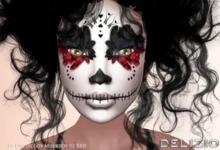 Delizio - La Dia de Los Muertos SUGAR SKULL 02 - Face paint Tattoo  5 color - Halloween Tattoo