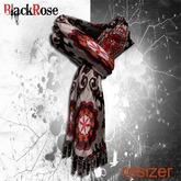 BlackRose Scarf Silk Hippie Chic Brown