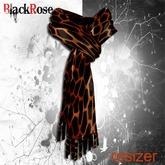 BlackRose Scarf Silk Leopard