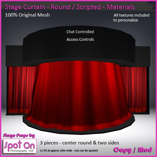 Spot On Round Stage Curtain with Sides - Materials V2