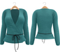 Blueberry Radi - Belleza Fitted - Lola's Applier & HUD For Ties - Short Tied Cardigans Aqua