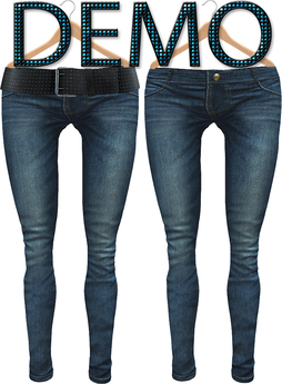 Blueberry Radi - Belleza Fitted - HUD Controlled & Optional Belts - Boots Friendly & Regular Cut Jeans DEMO