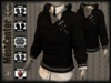 MESHCENTER - Gregory black sweater and white shirt MAN (for pant mesh version)