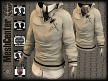 MESHCENTER - Gregory white sweater (for pants mesh),