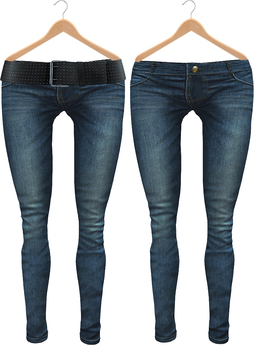 Blueberry Radi - Belleza Fitted - HUD Controlled & Optional Belts - Boots Friendly & Regular Cut Jeans Dark Blue