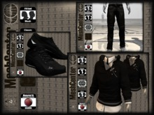MESHCENTER - Black Gregory full outfit sport man