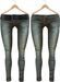 Blueberry Radi - Mesh - HUD Controlled & Optional Belts - Boots Friendly & Regular Cut Jeans Dark Fade