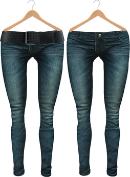 Blueberry Radi - Belleza Fitted - HUD Controlled & Optional Belts - Boots Friendly & Regular Cut Jeans Ocean