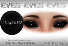 Delizio - Black Sclera eyes + Mesh eyes version - Halloween Eyes