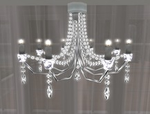 Crystal Chandelier w/ White Candles