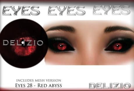 Delizio - Red abyss eyes + Mesh eyes version - Halloween Eyes