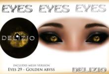 Delizio - Golden Abyss Eyes + Mesh Version - Halloween Eyes