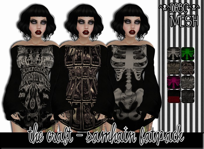 :drbc:: the craft - samhain fatpk - 8 textures w/ hud & fitted mesh[boxed]