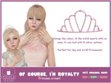 -Buttery Toast- Of course, I'm royalty - Pink