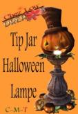 *Chez Lou* Tip JAR Halloween Lamp