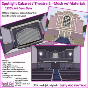 Spot On Spotlight Cabaret / Theater 2020 Update 2