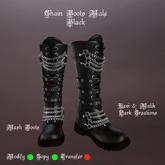 Chain Boots Male Black